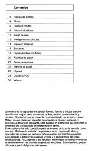 ARCO Ejercicios de concentración 2 indice