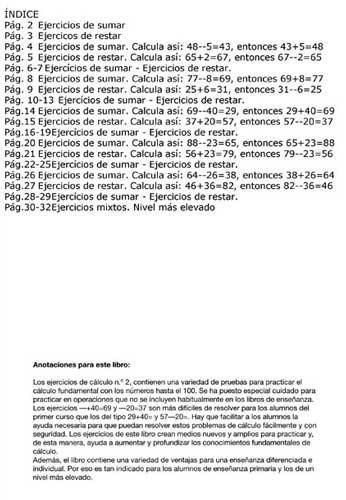 ARCO Ejercicios de cálculo 2 indice
