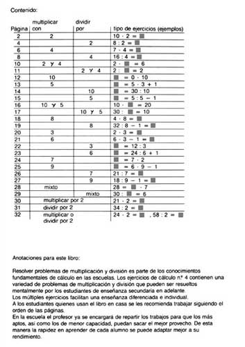 ARCO Ejercicios de cálculo 4 indice