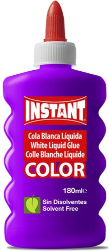 Cola blanca color 6 ud 180 ml detalle 1