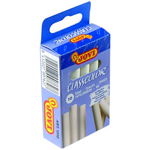 Tizas blancas antipolvo caja 10 ud