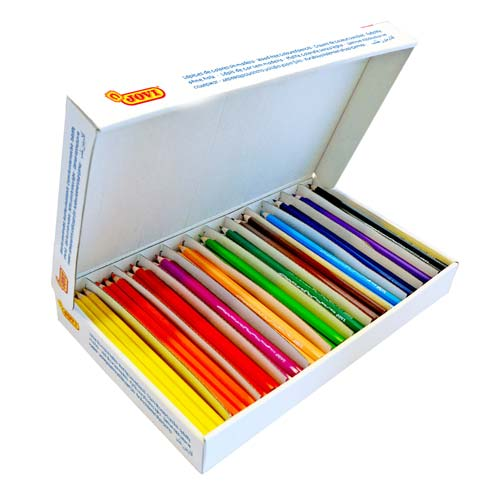Lápices Jovi sin madera triangulares caja 288 ud