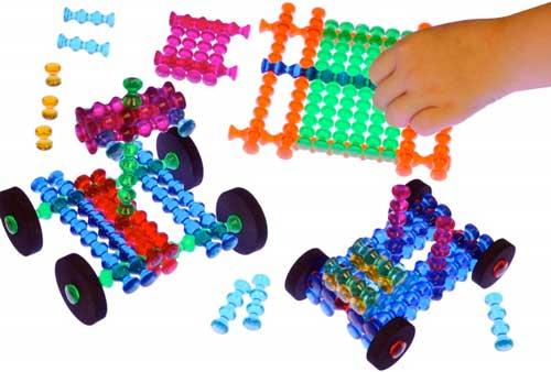 Construcción Playstix traslúcidos 105 piezas