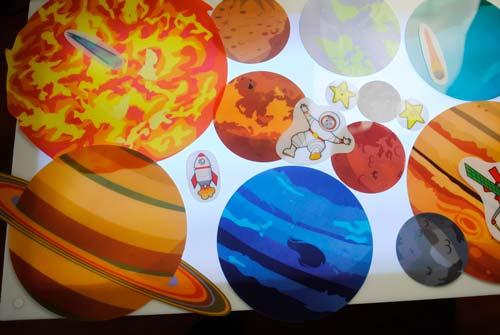 Maxi planetas traslúcidos 16 piezas detalle 10