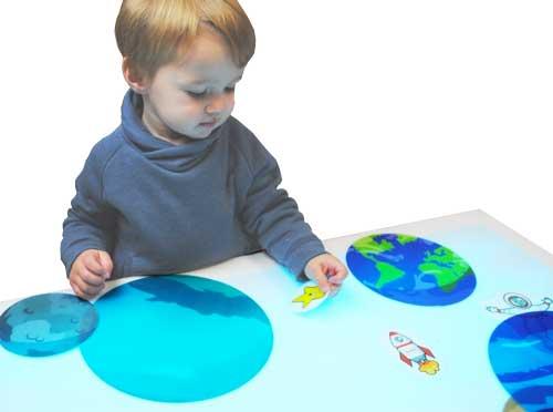 Maxi planetas traslúcidos 16 piezas detalle 2