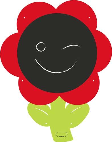 Pizarra gigante flor detalle 2