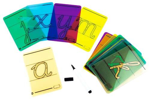 Letras cursivas para trazar