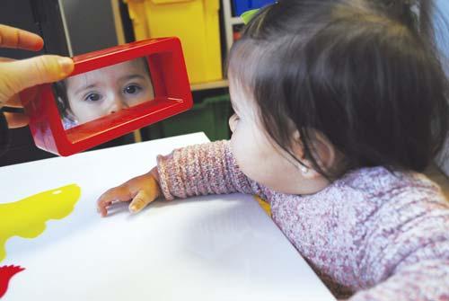 Espejo de juguete para bebés Rectangulo detalle 1