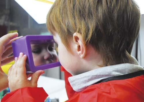 Espejo de juguete para bebés Rectangulo detalle 2