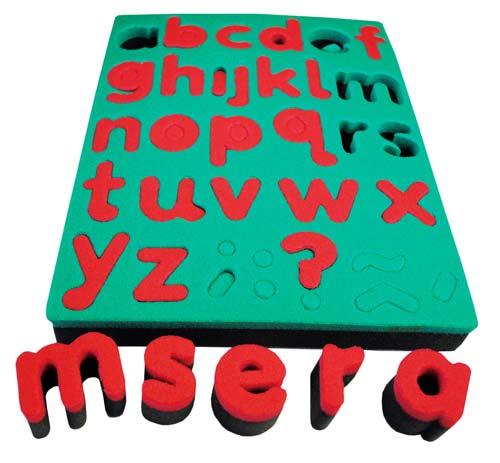Esponjas de alfabeto en minúsculas