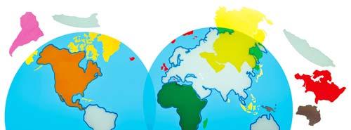 Descubre los continentes del mundo detalle 1