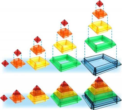 Pirámide Sakkaro 15 piezas + 100 modelos detalle 1