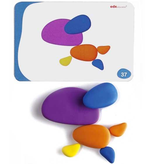 Piedras arco iris 36 ud + 20 tarjetas detalle 3