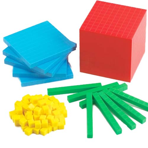 Base 10 sencillo en 4 colores 121 piezas