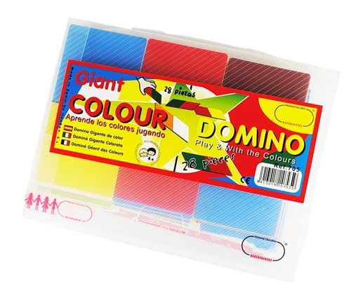 Dominó de color gigante detalle de la caja