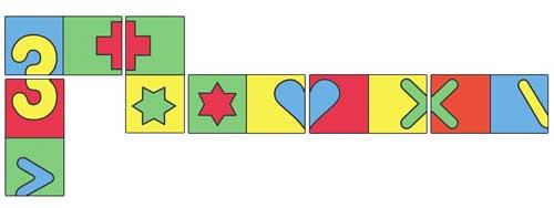 Dominó de simetría detalle 2