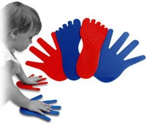 Manos y pies plástico 20 ud