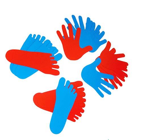 Manos y pies polipropileno 20 ud