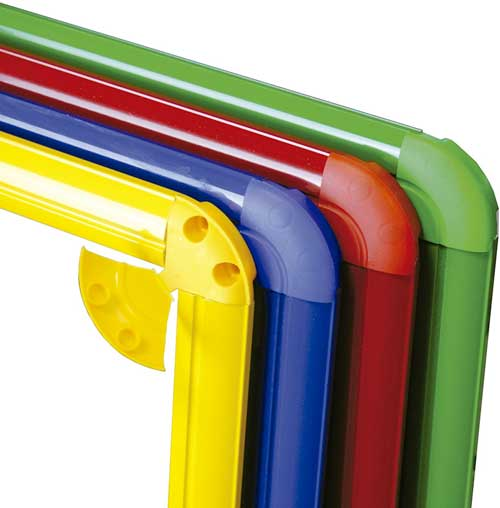 Espejo 100x65 aluminio Azul detalle 2