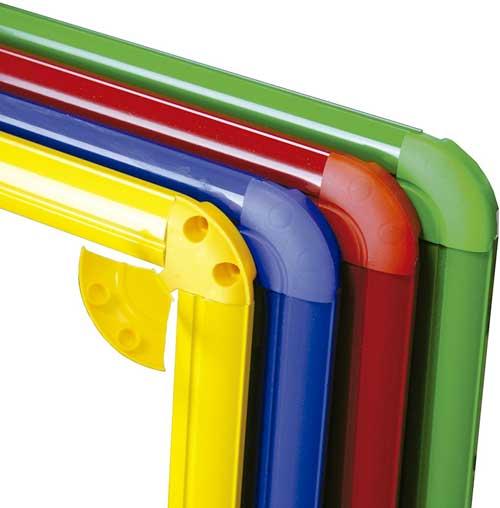 Espejo 120x50 aluminio Rojo detalle 2
