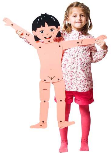 Muñecos articulados niño y niña detalle 3