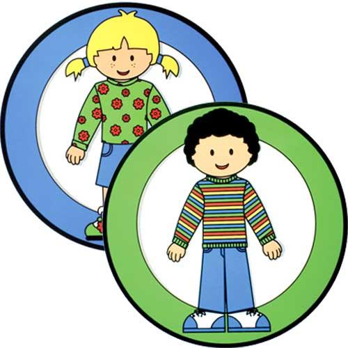 Cartel niño y niña