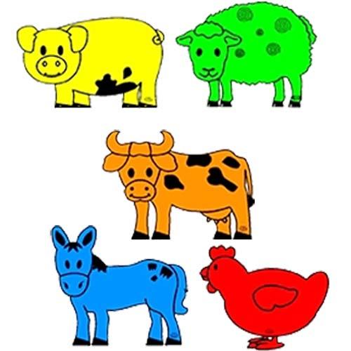 Animales gigantes granja