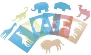 Plantillas animales zoo traslúcidas