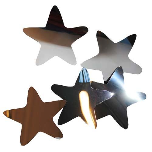 Estrellas de espejo de plástico 10 ud