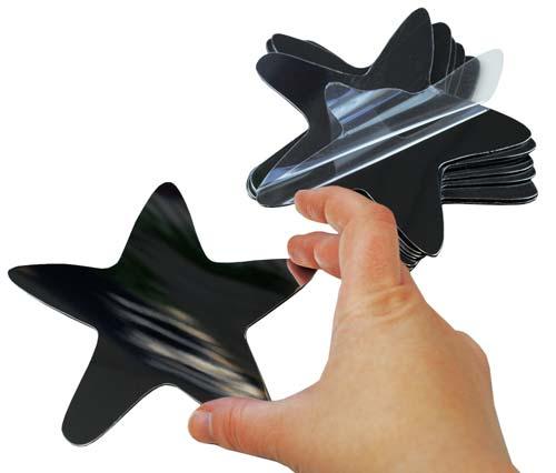 Estrellas de espejo de plástico 10 ud detalle 1