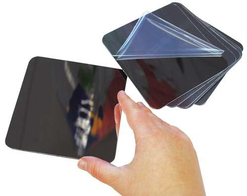 Cuadrados de espejo de plástico 10 ud detalle 1