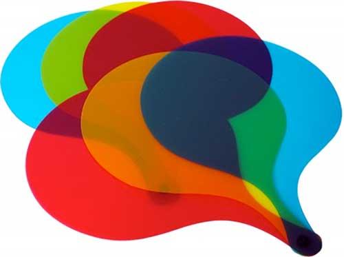 Palas traslúcidas de colores 6 ud detalle 2