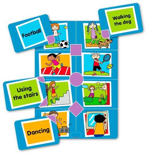 Bingo de actividades en inglés