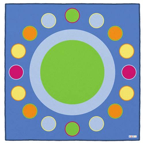Alfombra círculo grande 2 x 2 m