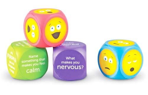 Dados Emojis con preguntas en inglés