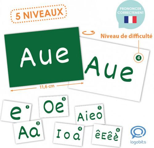 Lecto-Bits inicación lectura con vocales en francés detalle 2