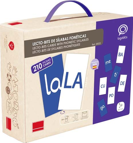 Lecto-Bits sílabas fonéticas detalle de la caja