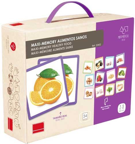 Maxi-Memory alimentos sanos detalle de la caja