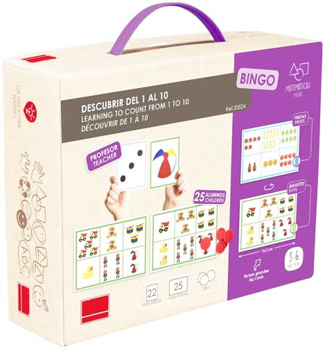 Bingo: Descubrir del 1 al 10 detalle de la caja