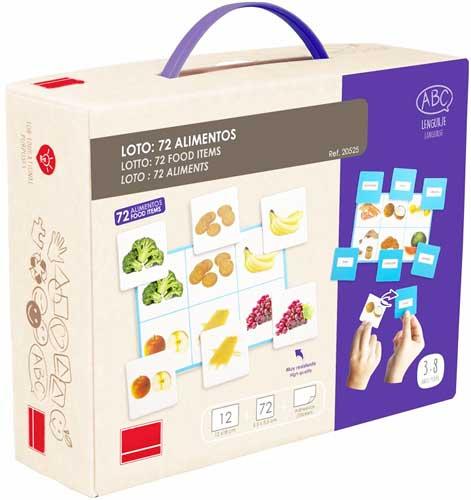 Loto + Palabras: Alimentos detalle de la caja