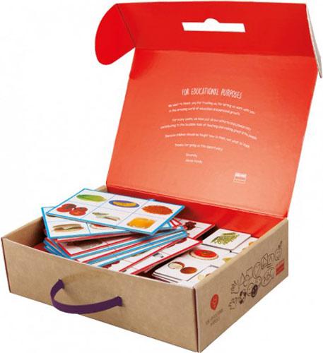 Loto + Palabras: Alimentos detalle de la caja abierta
