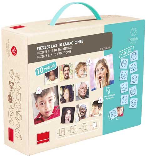 Set puzzles - Las 10 emociones detalle de la caja