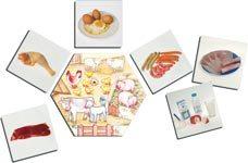Detalle de dónde vienen los alimentos