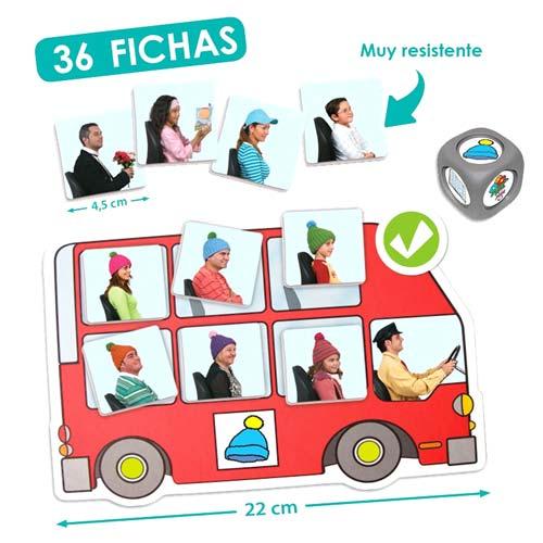 El autobús: busca y completa