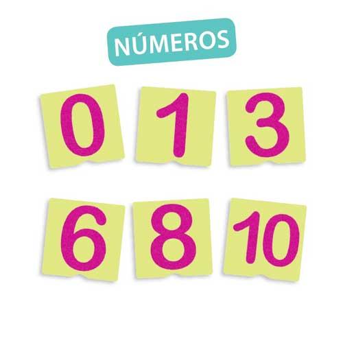 Tacto fichas de números y pre-escritura detalle 2