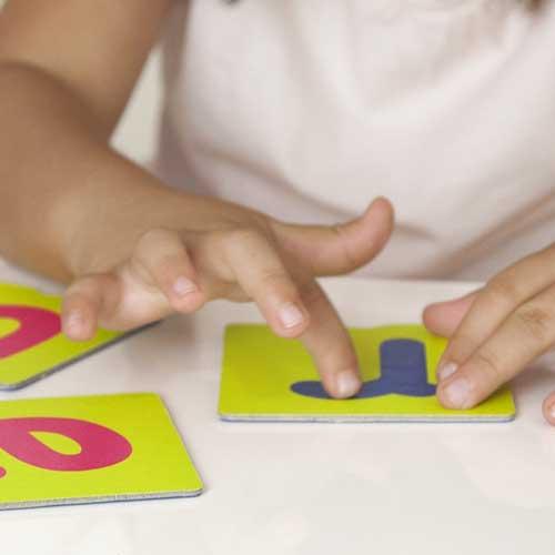 Tacto fichas de letras y signos de puntuación detalle 4