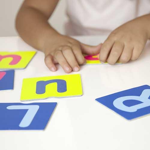 Tacto fichas de letras y signos de puntuación detalle 5
