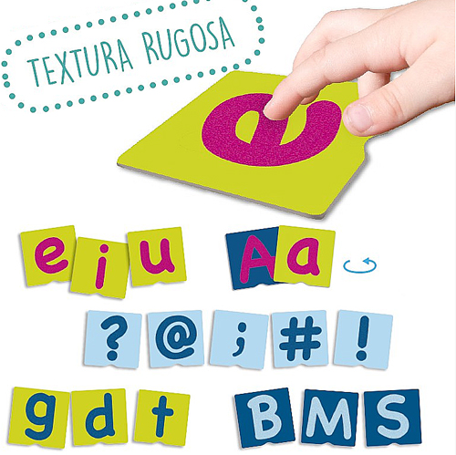 Tacto fichas de letras y signos de puntuación detalle 7