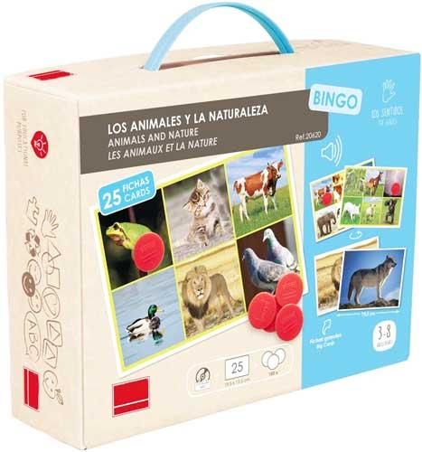 Bingo Los animales y la naturaleza detalle de la caja