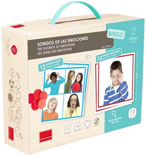 Bingo: Sonidos de las emociones detalle de la caja
